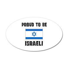 Proud To Be ISRAELI 35x21 Oval Wall Peel