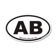 Atlantic Beach Florida AB Euro 20x12 Oval Wall Pee