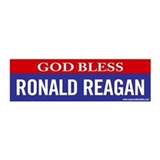 God Bless Ronald Reagan 20x6 Wall Peel