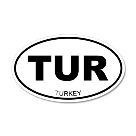 Turkey 20x12 Oval Wall Peel
