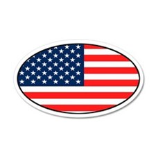 USA Patriotic 35x21 Oval Wall Peel