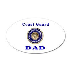 coast guard dad 20x12 Oval Wall Peel