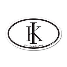 Kent Island KI Euro 35x21 Oval Wall Peel