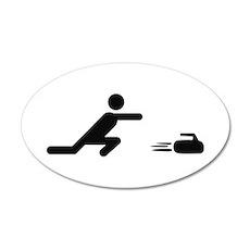 black curling logo curl symb 20x12 Oval Wall Peel