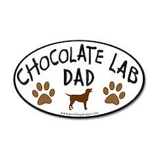 Chocolate Lab Dad 20x12 Oval Wall Peel