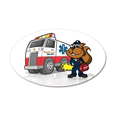 Squirrel Medic 20x12 Oval Wall Peel (in oval)