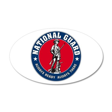 National Guard Logo 20x12 Oval Wall Peel