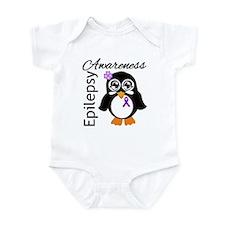 Penguin Epilepsy Awareness Infant Bodysuit