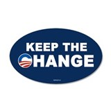 Keep Change Anti-Obama 20x12 Oval Wall Peel