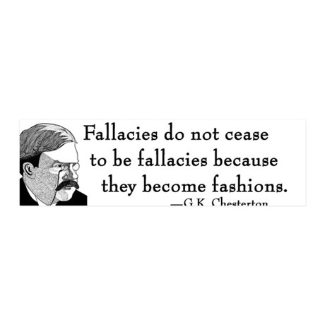 "G.K. Chesterton 36x11 Wall Peel - ""Fallacies"""