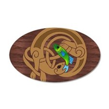 Oval Celtic Otter Sticker
