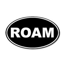 Roam Black Oval 20x12 Oval Wall Peel