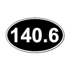 140.6 (Ironman Triathlon) 35x21 Oval Wall Peel