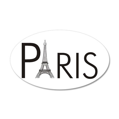 Paris Only 35x21 Oval Wall Peel
