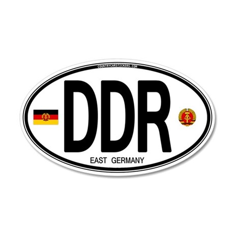 East Germany Euro Oval 20x12 Oval Wall Peel