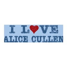 I Love Heart Alice Cullen 36x11 Wall Peel