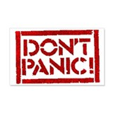 Hitchhiker - Don't Panic! 20x12 Wall Peel