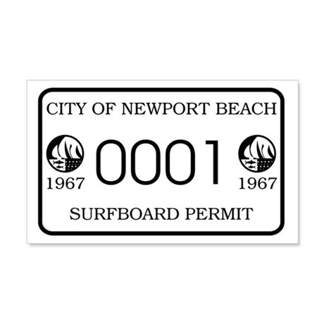 Newport Surfboard Permit 67' 20x12 Wall Peel