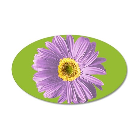 Pop Art Purple Daisy 35x21 Oval Wall Peel
