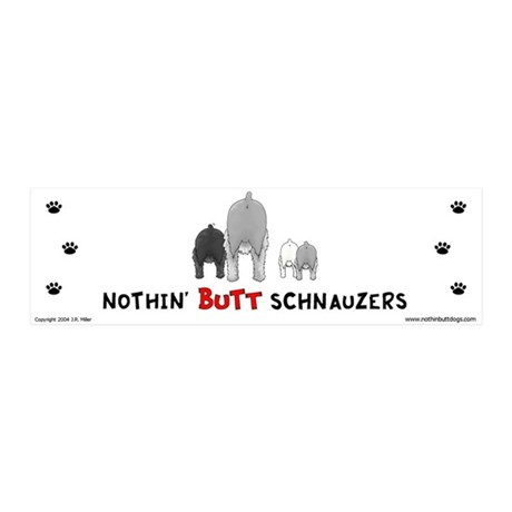 Nothin' Butt Schnauzers 20x6 Wall Peel