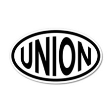 Union 20x12 Oval Wall Peel