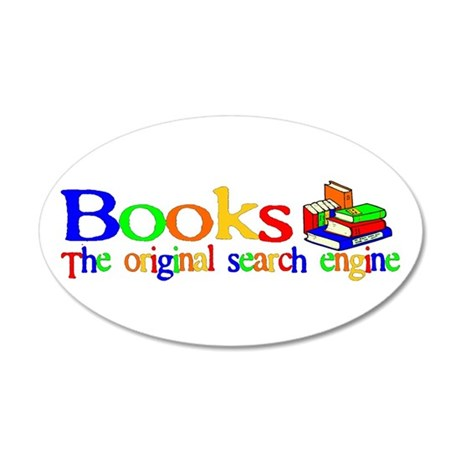 Books The Original Search Engine 35x21 Oval Wall P