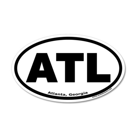 "Atlanta, Georgia ""ATL"" 20x12 Oval Wall Peel"