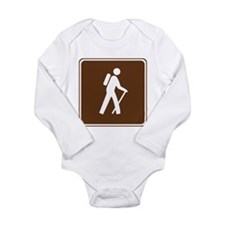 Hiking Trail Sign Long Sleeve Infant Bodysuit