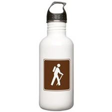 Hiking Trail Sign Water Bottle
