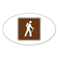 Hiking Trail Sign Decal