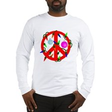 Peace For Christmas Red Long Sleeve T-Shirt