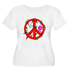 Peace For Christmas Red T-Shirt