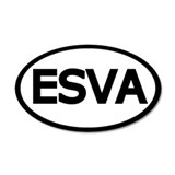 Oval ESVA Eastern Shore of Virginia Sticker