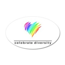 Celebrate Diversity - 20x12 Oval Wall Peel