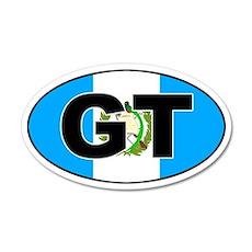 Guatemala GT on Flag 35x21 Oval Wall Peel