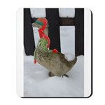 Christmas Goose with scarf and hat Mousepad