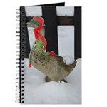 Christmas Goose with scarf and hat Journal