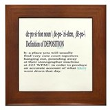 DEPOSITION DEFINITION Framed Tile
