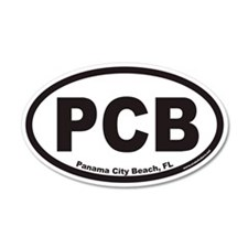 Panama City Beach PCB Euro 20x12 Oval Wall Peel