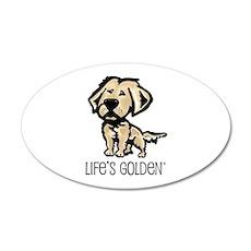 Life's Golden II 20x12 Oval Wall Peel