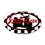 ScooterGeek Logo 35x21 Oval Wall Peel