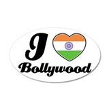 I love Bollywood 20x12 Oval Wall Peel