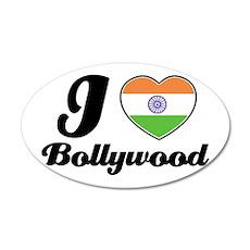 I love Bollywood 35x21 Oval Wall Peel