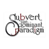 subvert the dominant paradigm Sticker (Rectangular