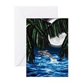Moonlit Paradise Greeting Card