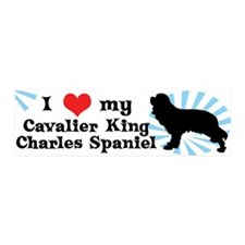 I Love My Cavalier King Charles 20x6 Wall Peel