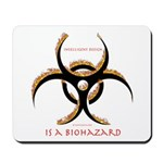 Inteligent Design Is A Biohazard - flame Mousepad