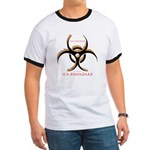 Inteligent Design Is A Biohazard - flame Ringer T