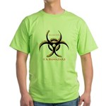 Inteligent Design Is A Biohazard - flame Green T-S