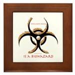 Inteligent Design Is A Biohazard - flame Framed Ti